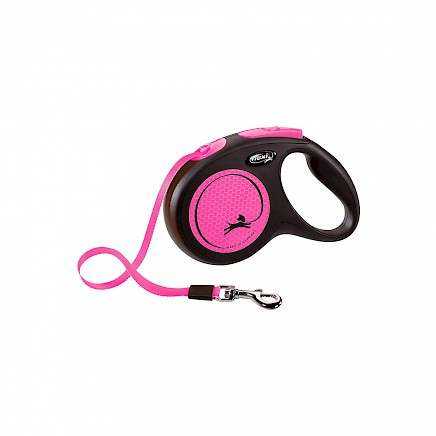 Flexi New Neon M 5m pink trak do 25 kg