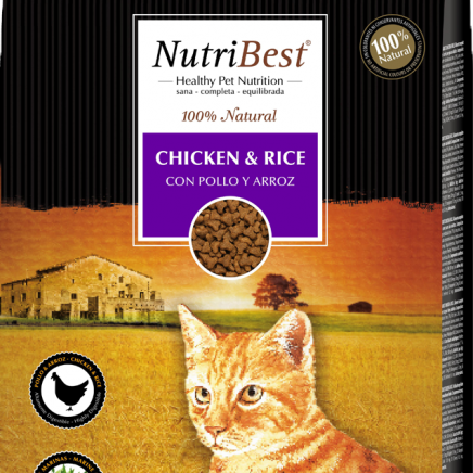 Picart Nutribest - Cat - Chicken & Rice - 15kg